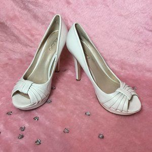 ALDO White Open Toe Stiletto Heels